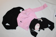 Bolero for gymnastics a wool mixture black 2-3,