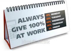 Appointment desk calendar