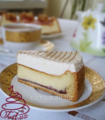 Cake New York cheesecake. Cottage cheese shortcake