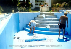 Finishing covering for the pool
