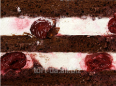 Cake layers from chocolate biscuit