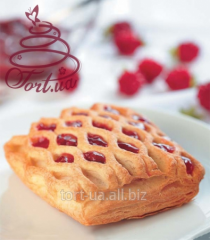 Puff pastries 'Lace with raspberry', 70 g.