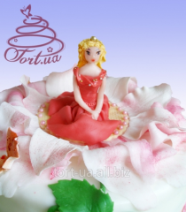 Figure for children's cake from sugar