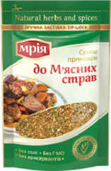 Spice mixture to meat dishes