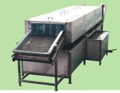 Washing and drying lines, systems for processing