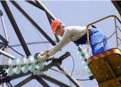Installation of LEP of 0,4 - 10 kV