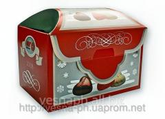 Картонная упаковка для печенья, мармелада, зефира