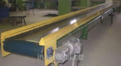 Horizontal belt conveyers to lines of production