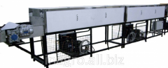 The cooling conveyors on production lines of food,