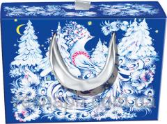 Упаковка картонная для новогодних подарков в виде сумки-чехла 280х85х205 мм, 255х75х195 мм