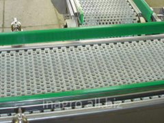 Conveyors with modular tapes on production lines,
