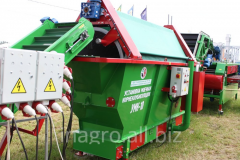 Units for crushing of plant raw material on