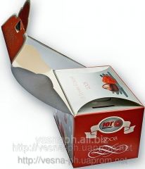 Food cardboard packaging for the frozen dishes