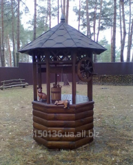 Lodge for wells wooden