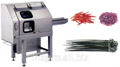 Electric vegetable cutters on lines of processing