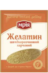 Edible gelatine instant