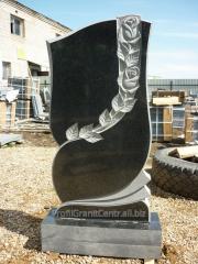Gravestones from granite under the order