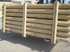 Оцилиндрованная древесина Сосна оптом Украина