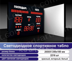 LED sports board universal soccer, basketball,