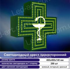 Светодиодный аптечный крест односторонний