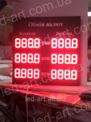 LED board currency exchange unilateral 700х600 mm
