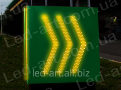 Light advertizing pointer LED entrance departure