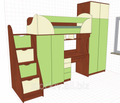 Furniture children's with a bed attic (4)