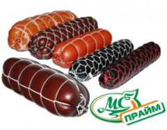 Decorative net for sausages, different colors and