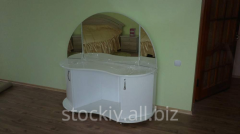 Dresser for a bedroom with a mirror