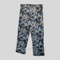 Trousers are camouflage, special clothes
