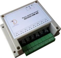 Module of relay exits to 8 relays