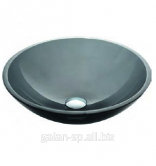 Glass wash basin for bathing Black GV-104-12mm