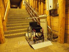 Наклонная платформа для инвалидов колясочников