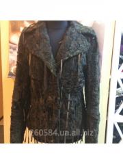 Fur coat female of astrakhan fur of Milona