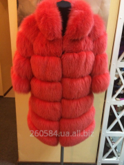 Fur coat female of polar fox