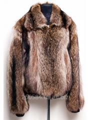 Fur coat man's of wolf
