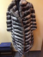 Fur coat from chinchilla from the fashionable