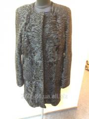 Fur coat female of astrakhan fur