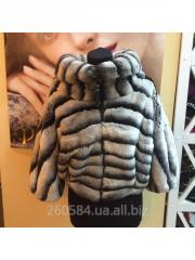 Fur coat female short of natural fur