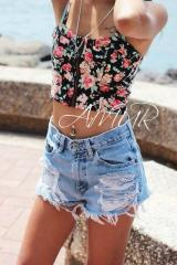 """Stylish youth top """"Flowers"""