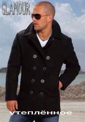 The men's warmed cashmere coat