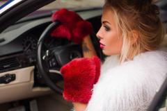 "Stylish women's mittens ""Fur"