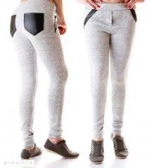 The women's warmed youth trousers
