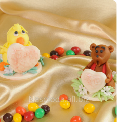 Ornament on children's cakes, animation