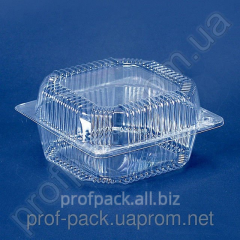 Package PS-polystyrene with lid 11, 1250 ml,