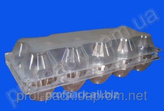 Packaging for eggs PS-3610, plastic, 10 cells,