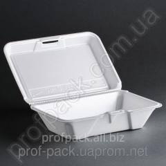 Lunch-box made of foam polystyrene rectangular