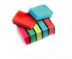 Губки кухонные Maxi для мытья посуды 5 шт