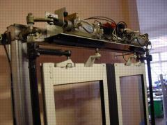 Pneumatic actuator of doors.