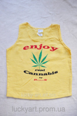 Enjoy undershirt from marijuana